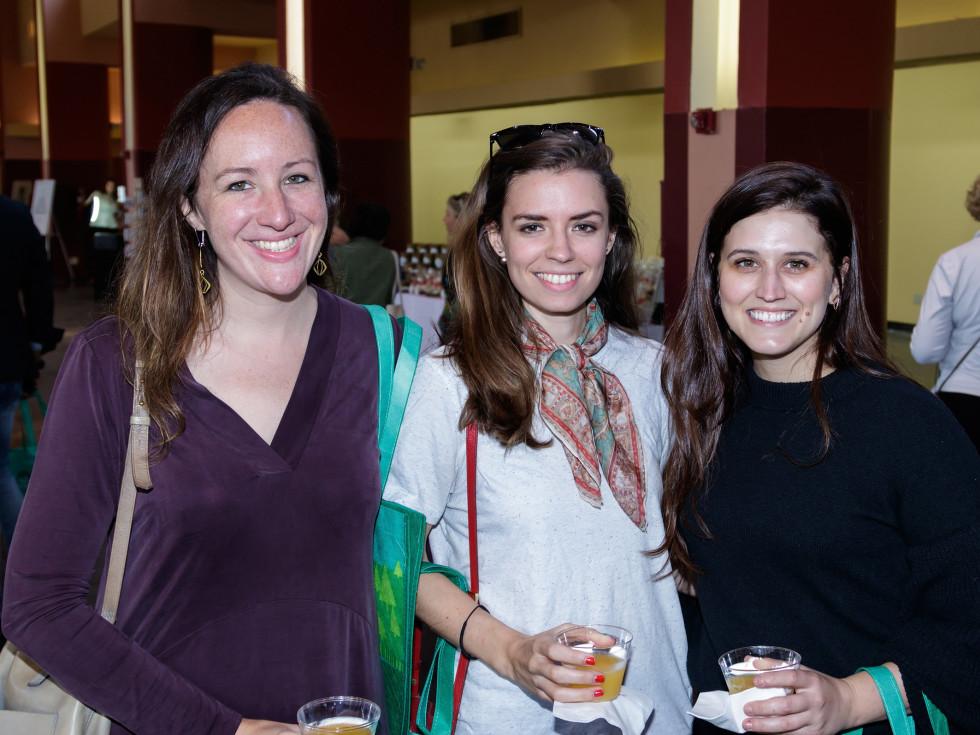 Teresa Fougerousse, Catherine Bradford, Rachel Ficke, 2017 Dallas CultureMap Holiday Pop-up