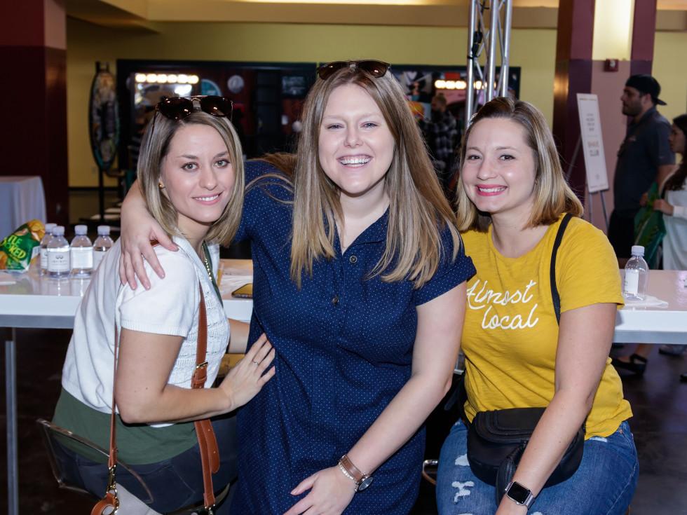 Ashley Grohn, Sarah Minjoe, Amanda Saxer, 2017 CultureMap Dallas Holiday Pop-up