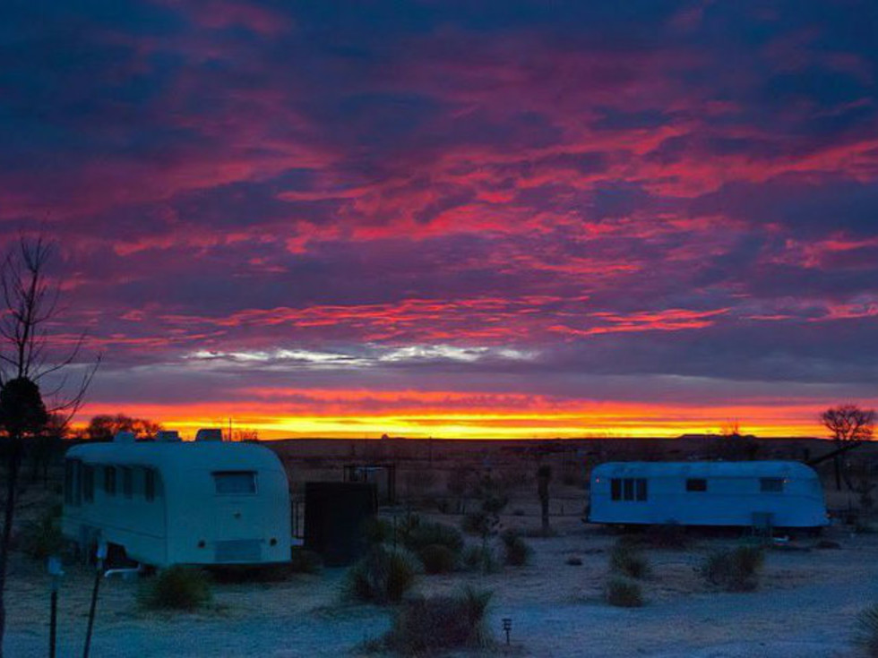 El Cosmico West Texas sunset