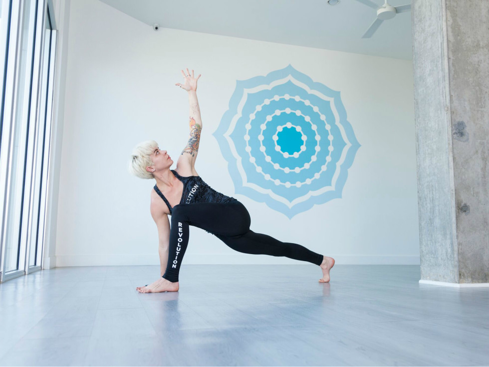 Houston yoga - Revolution Studio - woman posing