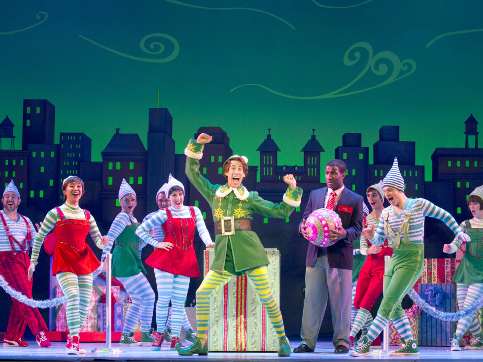 Matt Kopec and the cast of Elf The Musical national tour