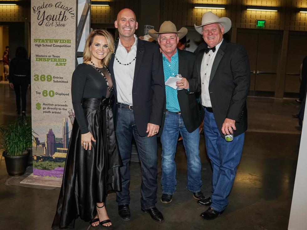 Austin Rodeo Gala 2018 Fashion Christy Declairmont Todd Declairmont Brian Lehne Steve Jennings