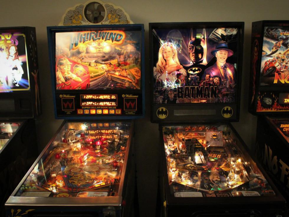Austin Photo Set: News_Kerri Lendo_Pinballz_Nov 2011_two pinball machine