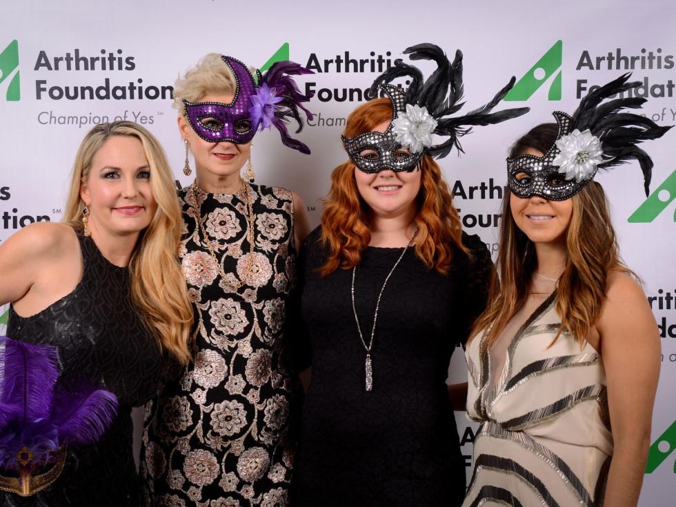 Jeonell Winn, Toni Richardson, Stacey DeVos, Stephany Puno, Arthritis Foundation Mardi Gras Gala