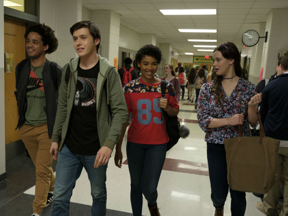 Jorge Lendeborg, Nick Robinson, Alexandra Shipp, and Katherine Langford in Love, Simon
