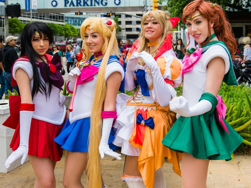 Anime Matsuri girls in Cosplay