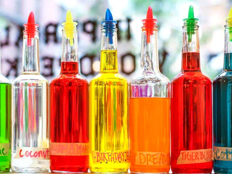 Mama Neats Snoballs bottles of flavorings