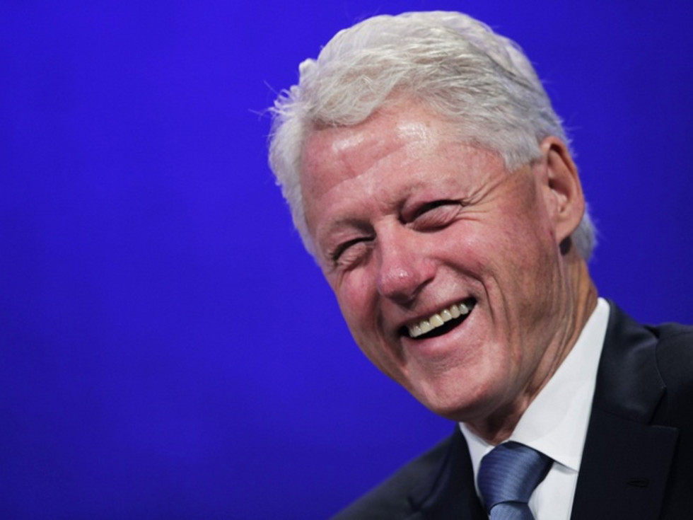 Bill Clinton head shot thin vegan