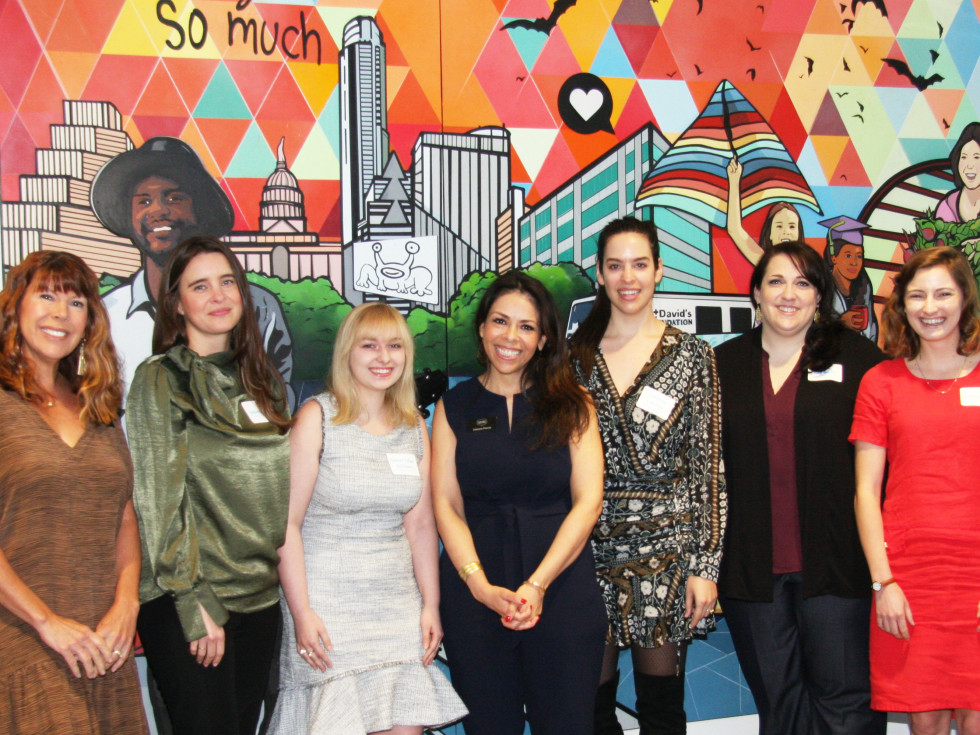 Cassie Swenson, Lindsay Muse, Chelsea Toler-Hoffmann, Celeste Flores, Catherine Lucchesi, Amy Morris, Christine Herlin at St. David's Foundation ​