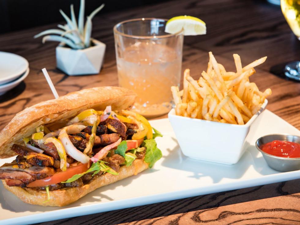 Smithy pork sandwich