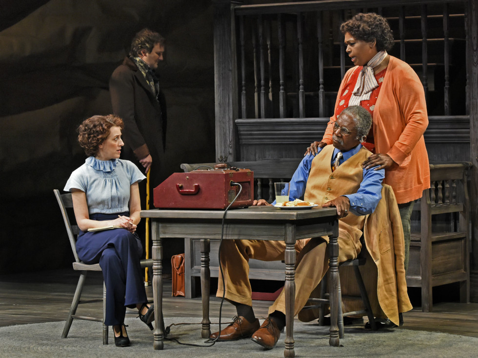 Kate Wetherhead, Steven Michael Walters, Charlie Robinson, and Liz Mikel in The Trials of Sam Houston