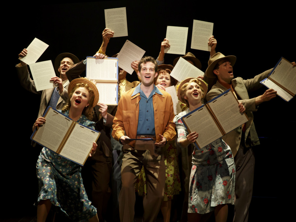 AJ Shively and cast of Bright Star