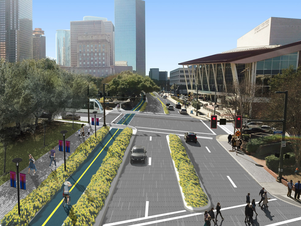 Downtown Bagby Street redesign project