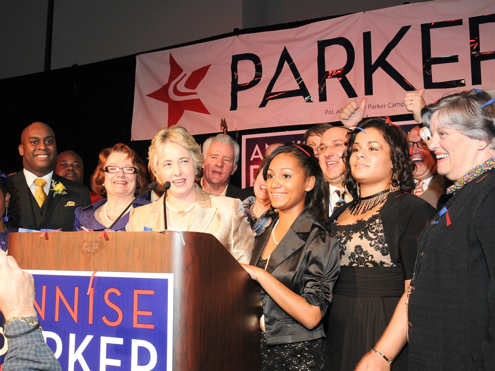 News_Annise Parker_Election Night Dec. 2009_family_supporters