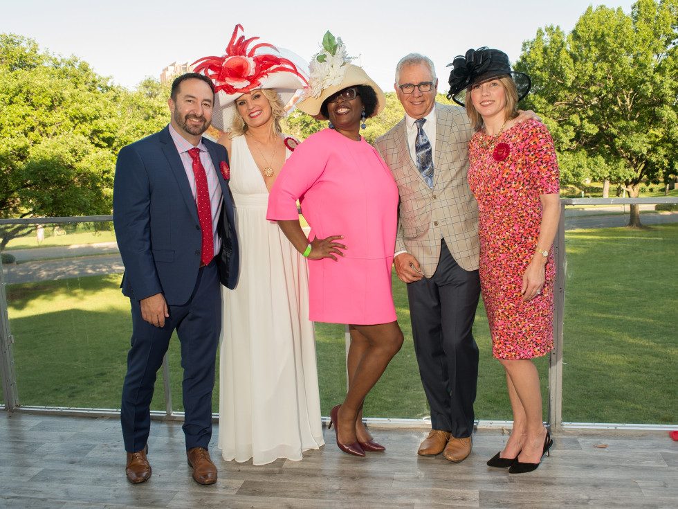 Day at the Races 2018, Adam Wilson, Day at the Races Co-Chair Lauren Ives, Quenita Fagan and Jim and Dee Genova