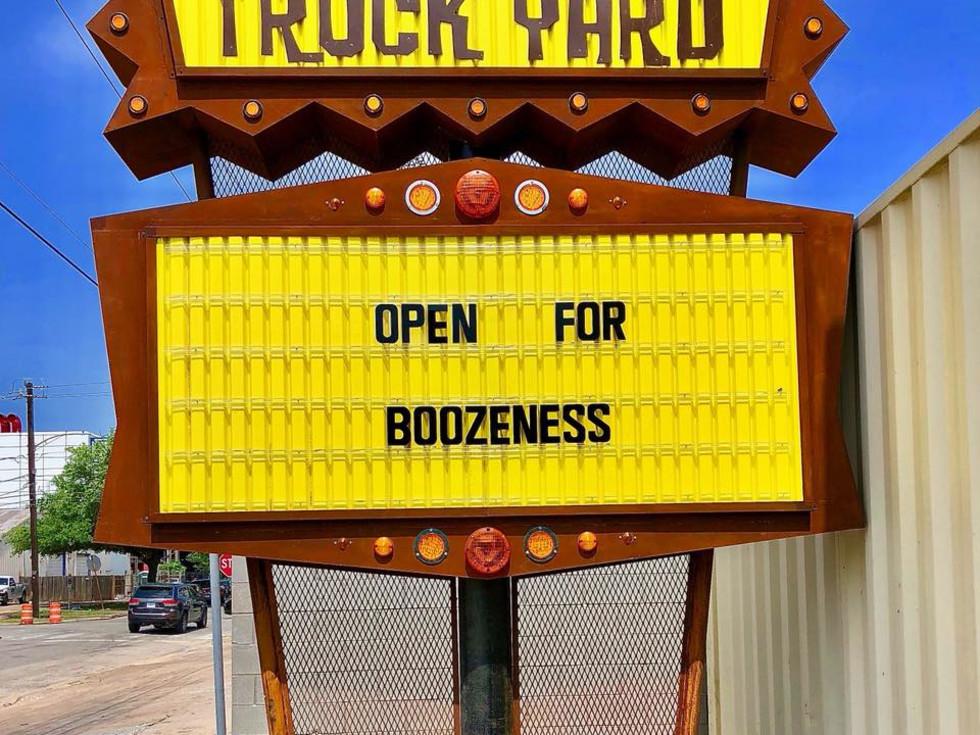 Truck Yard Houston sign