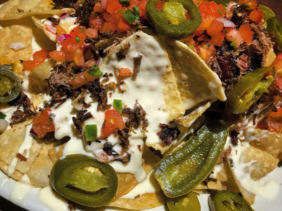 Smokehouse Brisket Nachos from Old Texas Brewing Co.