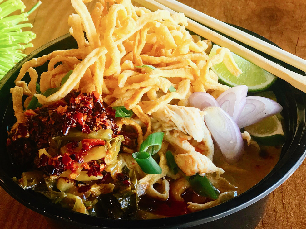 Northern Thai Kao Soi Noodles from Pandan Thai