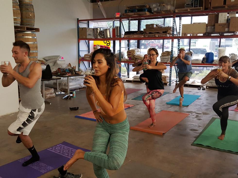 Weathered Souls Beer Yoga