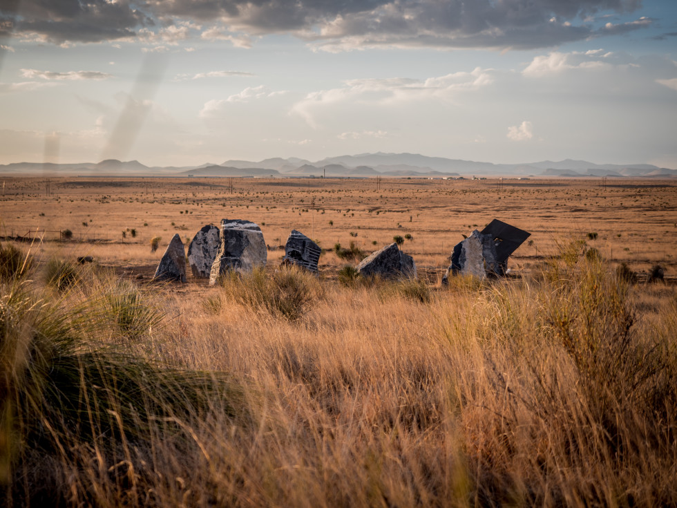 Stone Circle Marfa wide shot