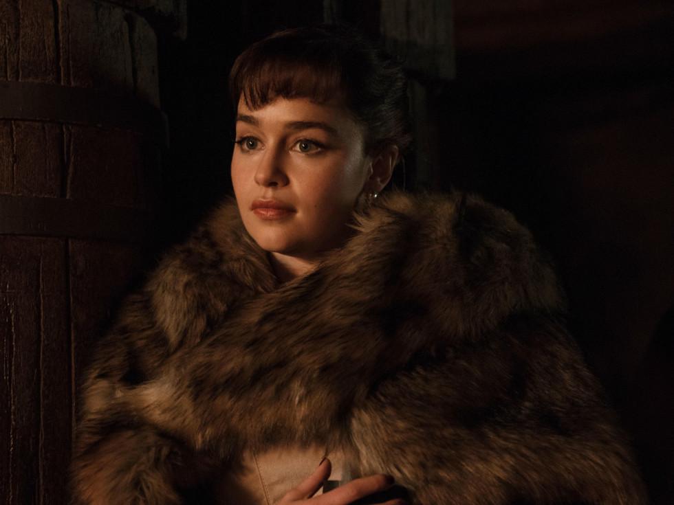 Emilia Clarke in Solo: A Star Wars Story