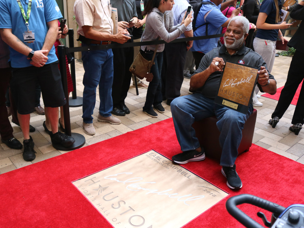 Houston Sports Hall of Fame rings Earl Campbell