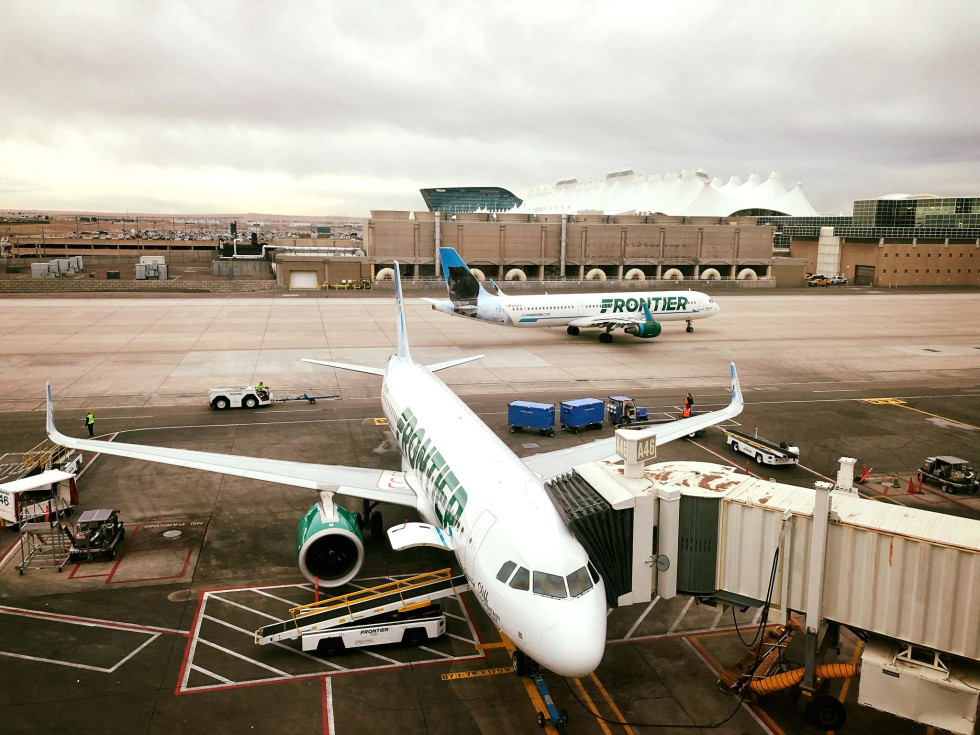 Frontier Airlines plane airplane