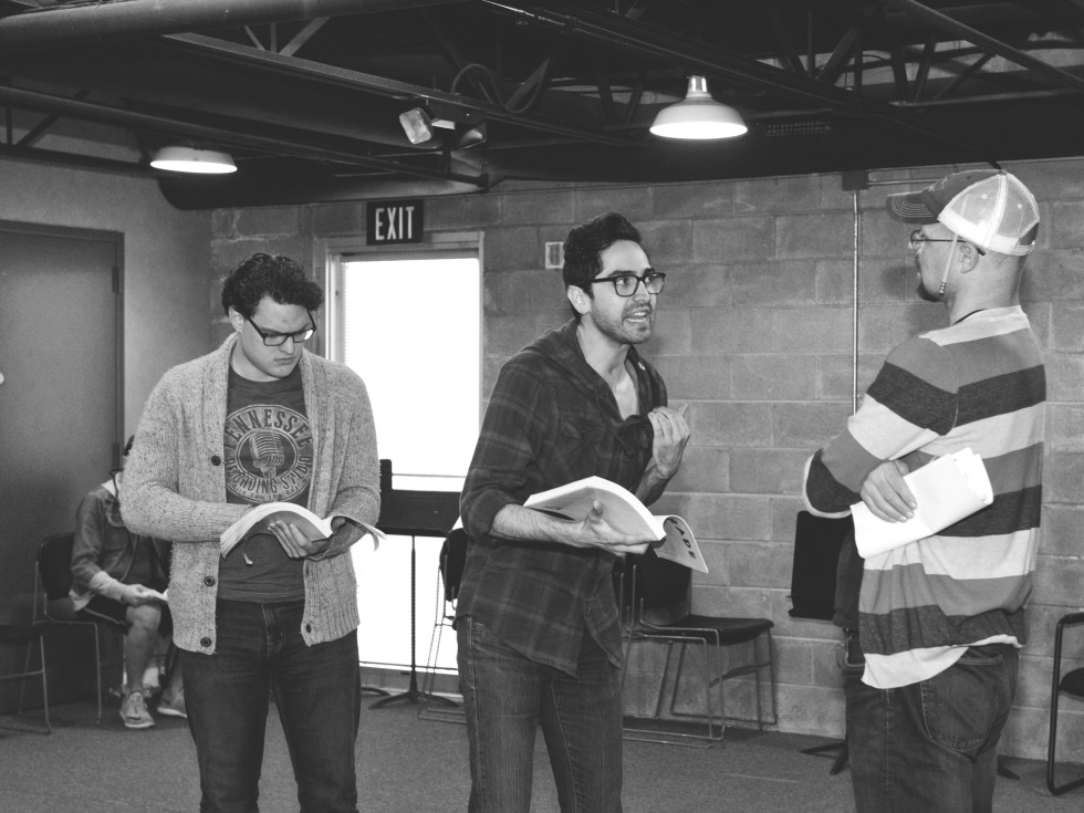 Parade rehearsal at WaterTower Theatre