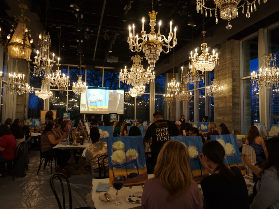 Group class at Painting With a Twist