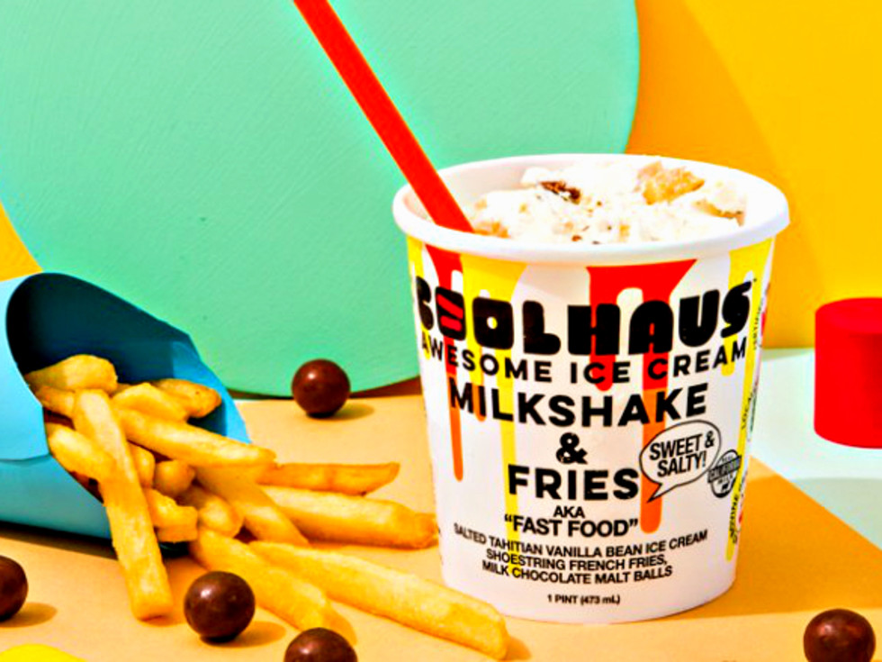 Drive-Thru Gourmet - Coolhaus ice cream milkshake & fries
