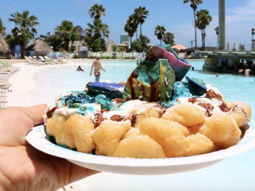 Schlitterbahn mermaid funnel cake