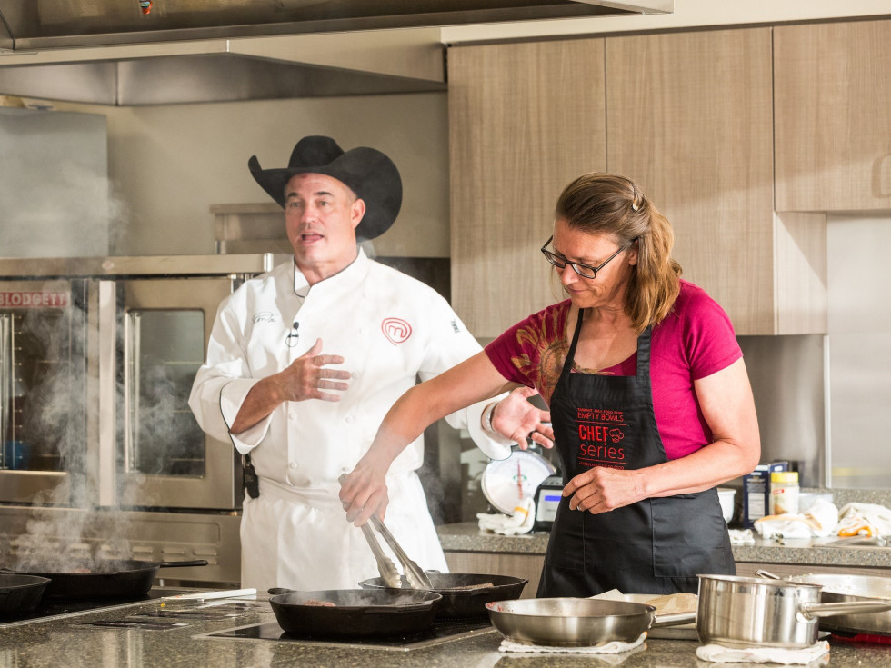 Kathryn Wagner, Chef Mike Newton