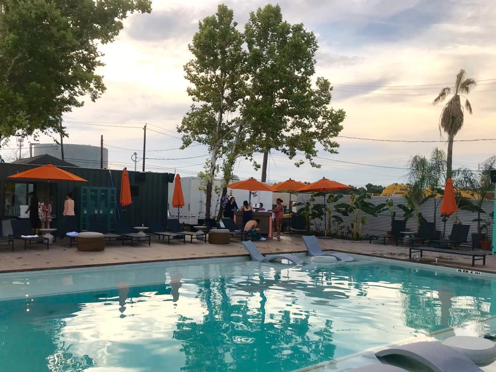 El Segundo Swim Club pool side
