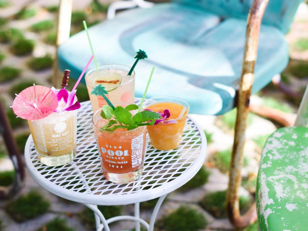 Pool Burger cocktails