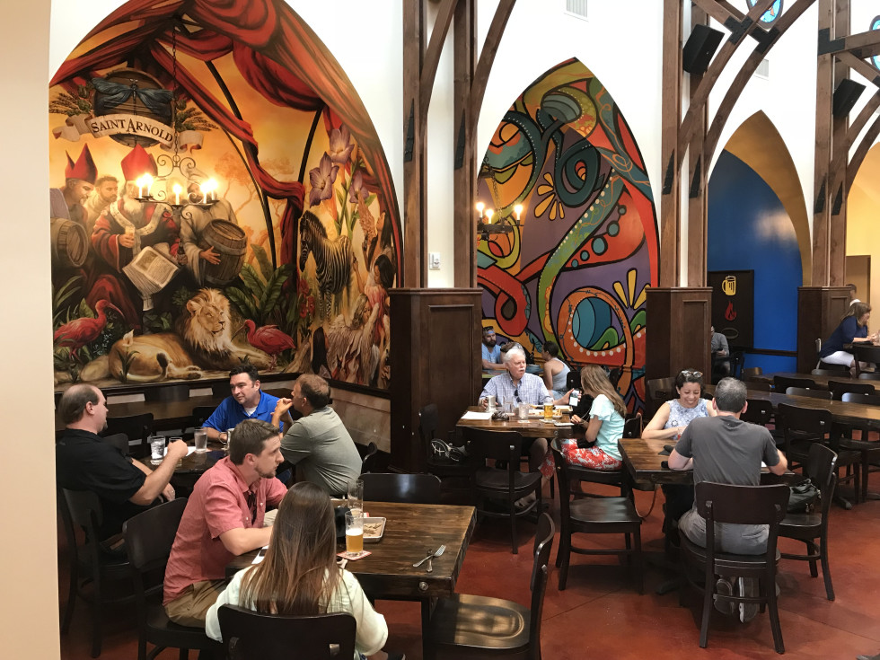 Saint Arnold beer garden interior