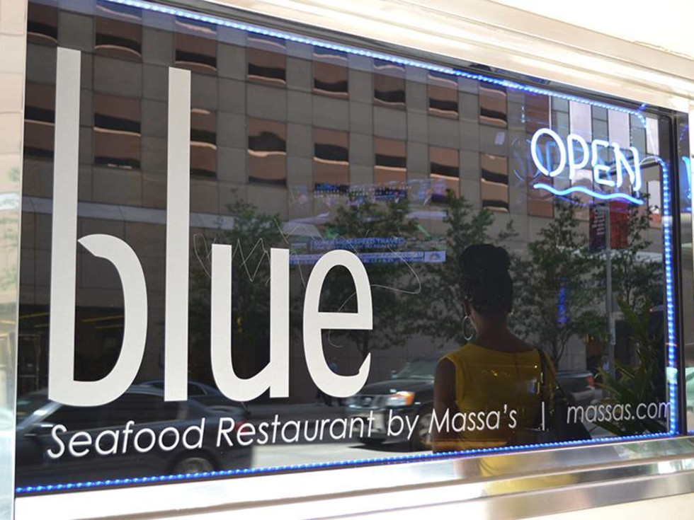 Blue by Massa's sign