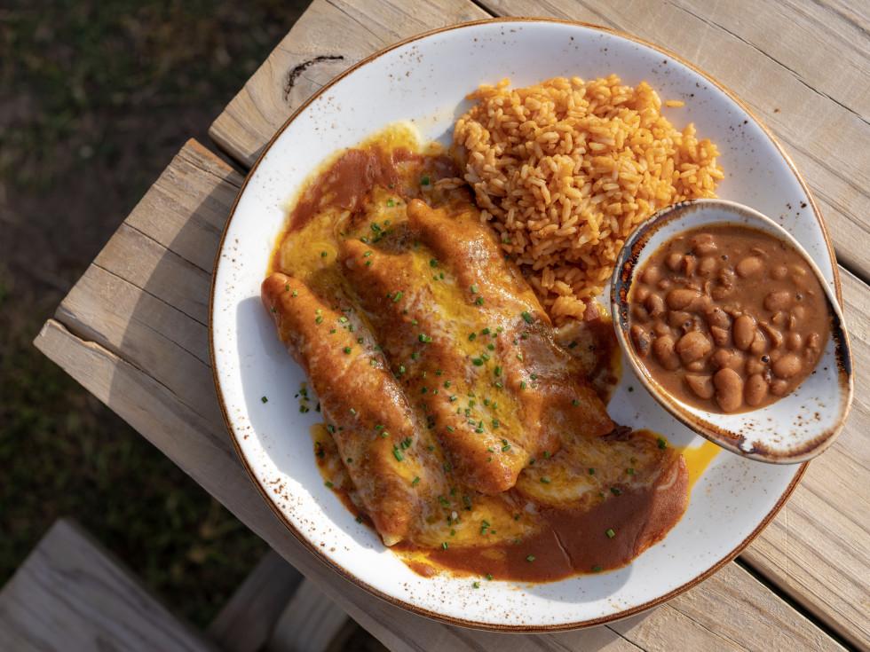 Killen's TMX beef enchiladas
