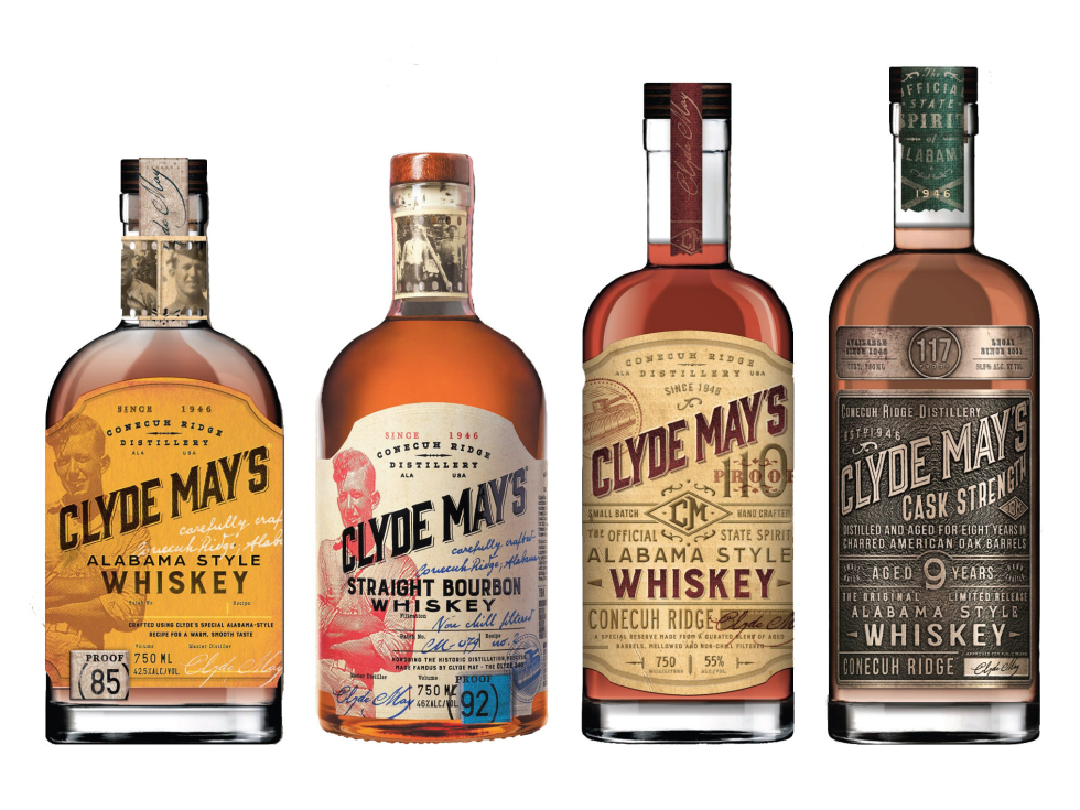 Clyde Mays whiskies