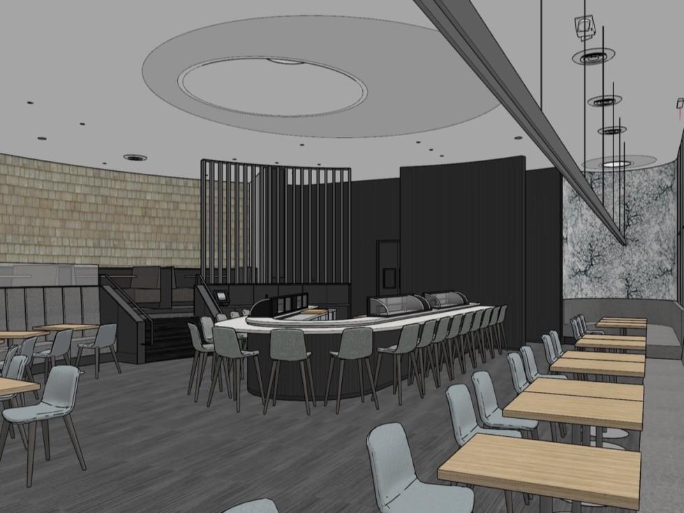 Uptown Sushi renovation rendering