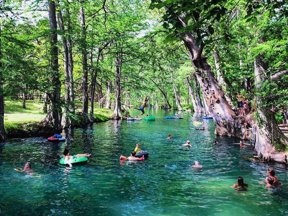Blue Hole Regional Park swimming Wimberley