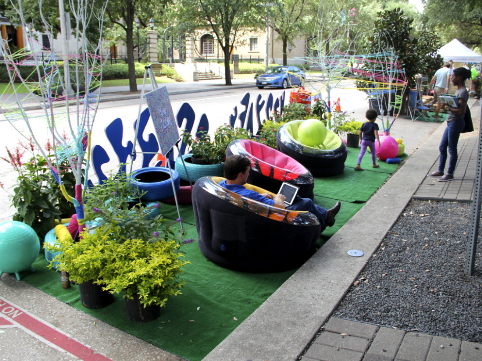Parking Park(ing) Day Houston downtown