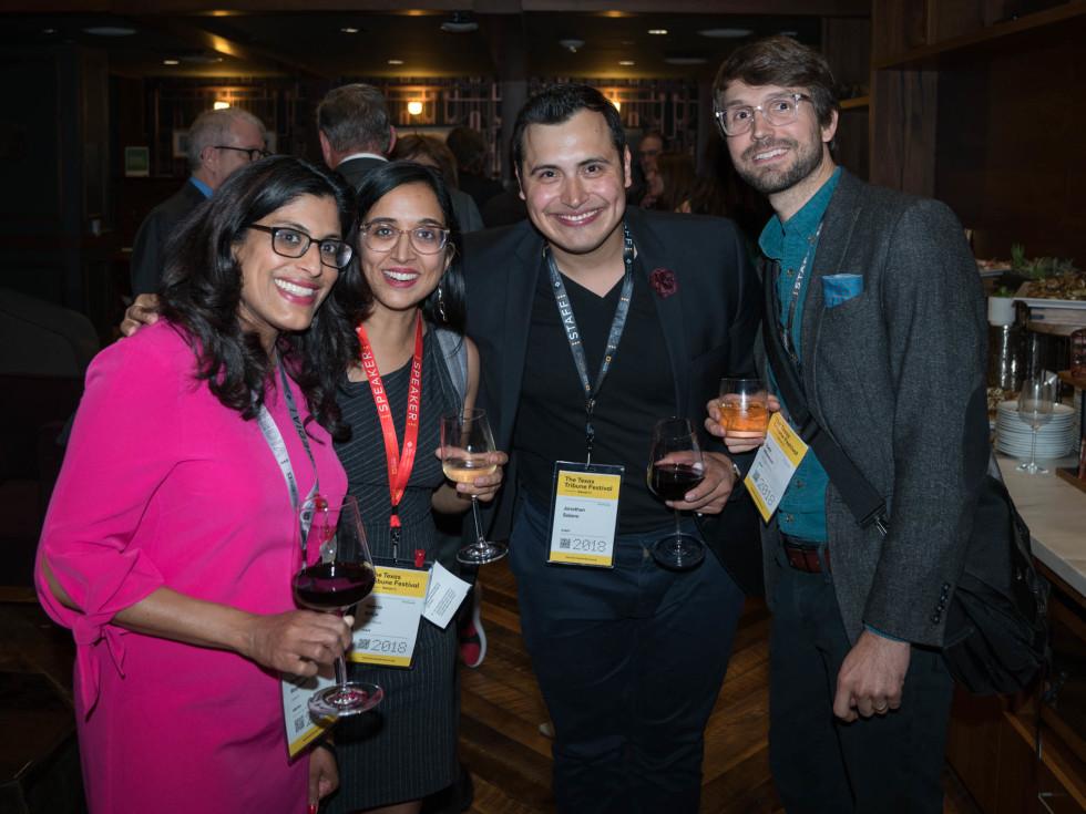 Texas Tribune Festival 2018 VIP Party at Google Renuka Rayasam Neena Satija Jonathan Solano Todd Wiseman
