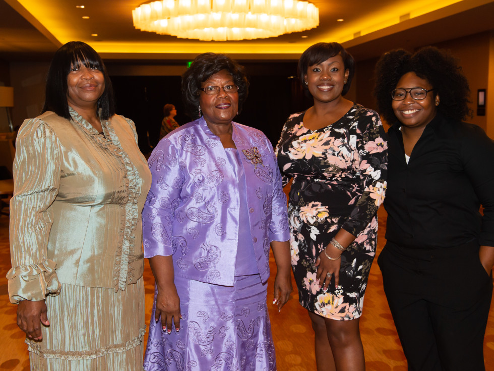 Gloria McGee, Dr. Brenda Jones, Crystal Sheppard, Dametria Brown