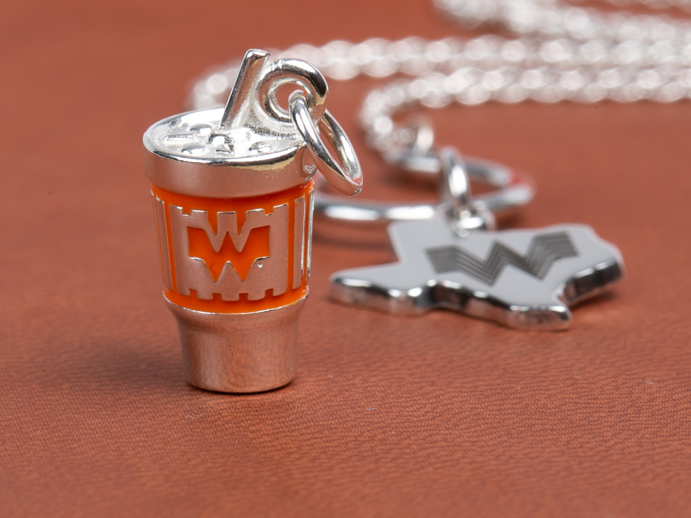 Whataburger James Avery cup and Texas charms