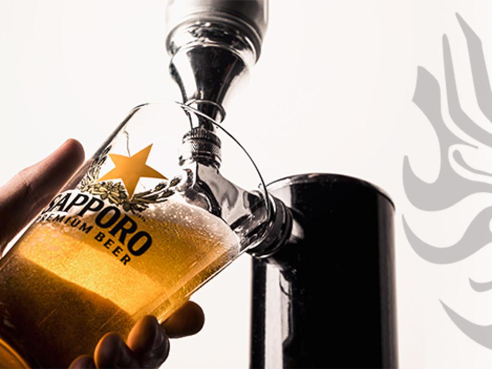 Sapporo beer draft