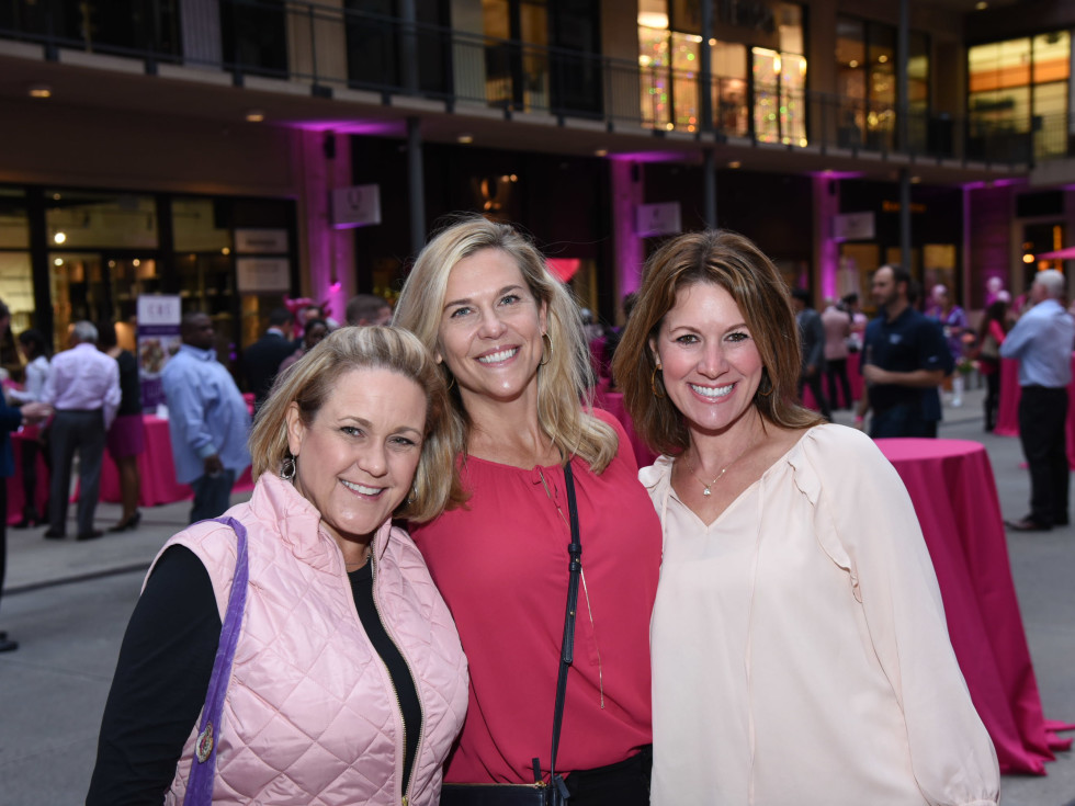 Pink Party 2018 West Ave  Laura Beavers. Stefanie Walker. Shannon Dawson.