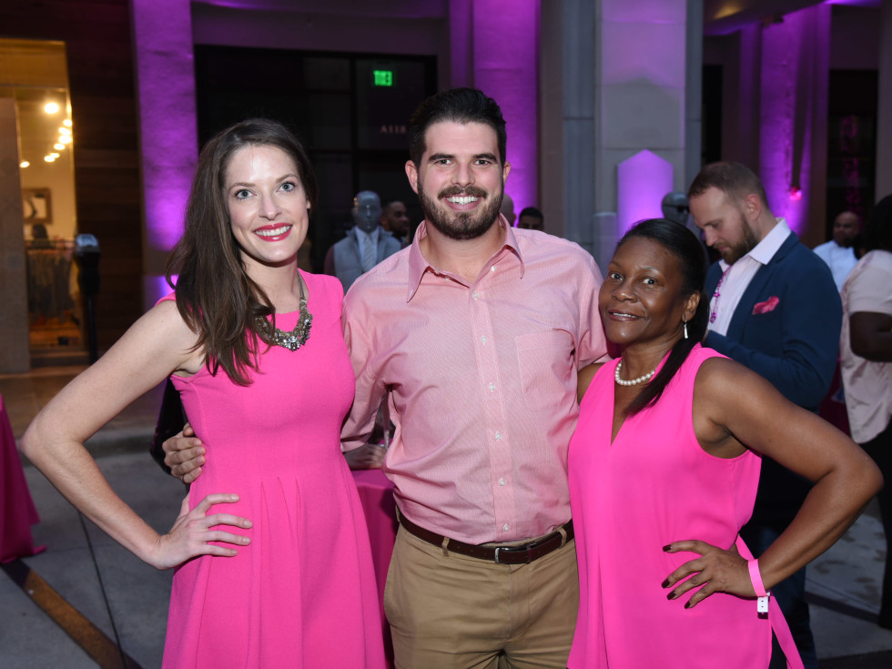Pink Party 2018 West Ave Marissa Lucas, Jake Watts, and Judith Goode