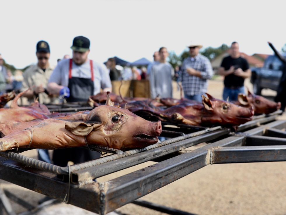 Butcher's Ball 2018 pigs on the grill