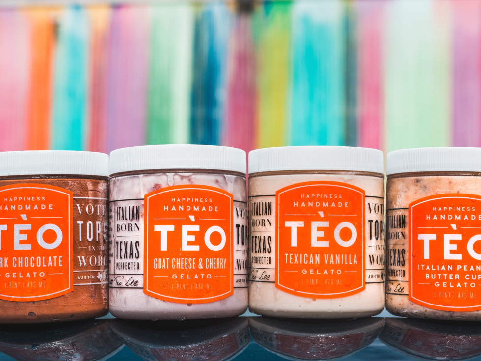 Teo Gelato containers