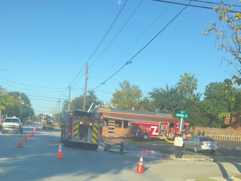 Presidio fire trucks